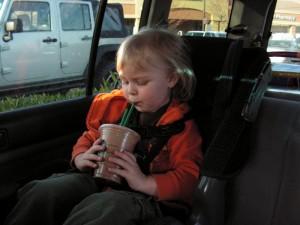 Birthday Chocolate Milk from Starbucks